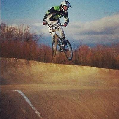 Track Photograph - Bmx Jump by Lori Lynn Gager