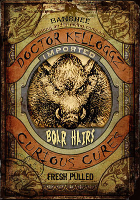 Boar Hairs  Art Print