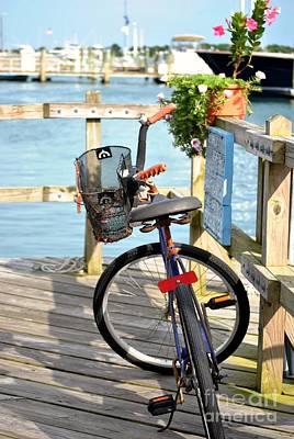 Art Print featuring the photograph Boardwalk Bike by Kelly Nowak