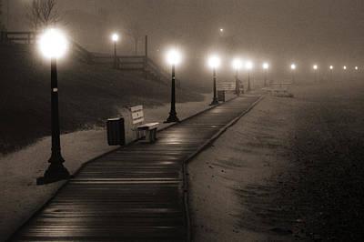 Photograph - Boardwalk In The Fog by Bill Pevlor