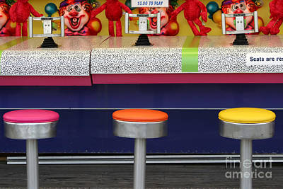 Photograph - Boardwalk Water Game by Susan Stevenson