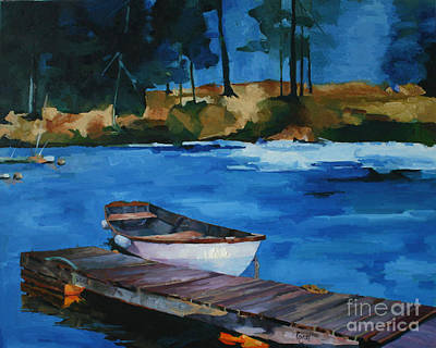 Boat And Bridge Art Print by Pepe Romero