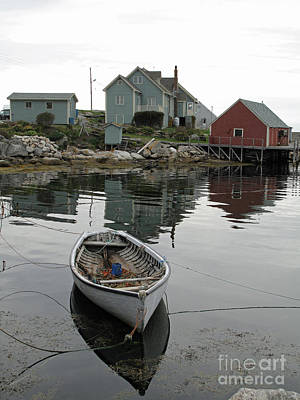 Art Print featuring the photograph Boat At Peggy's Cove by Louise Peardon