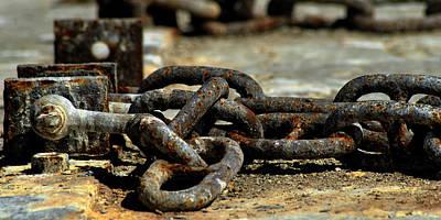 D700 Photograph - Boat Chains by Jaco Kriek