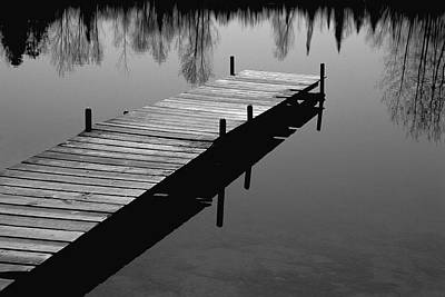 Photograph - Boat Dock At Merl's Pond by Randall Nyhof