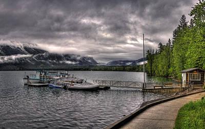 Basketball Patents - Boat Dock At Lake McDonald Lodge 2 by Lee Santa