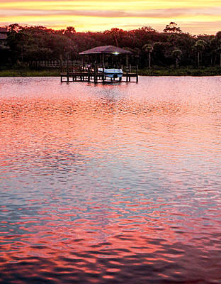 Photograph - Boat Dock Dusk Vertical by Christy Usilton