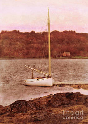 Boat Docked On The River Art Print by Jill Battaglia