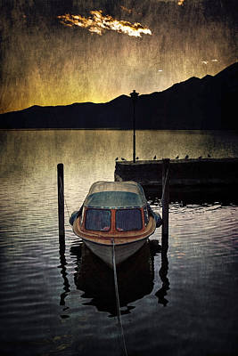 Boat During Sunset Art Print by Joana Kruse