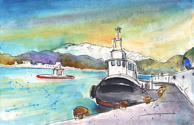 Painting - Boat In Agia Galini 02 by Miki De Goodaboom