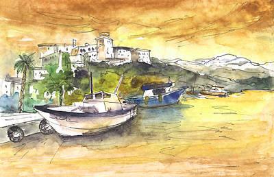 Boat In Agia Galini 03 Art Print by Miki De Goodaboom
