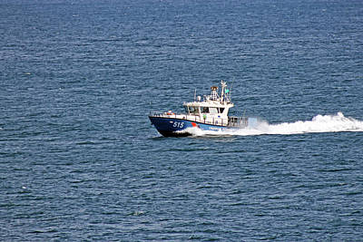 Photograph - Boat In Black Sea by Tony Murtagh