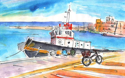 Painting - Boat In Heraklion by Miki De Goodaboom