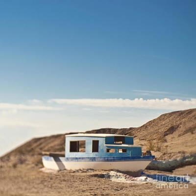 Boat In The Desert Art Print