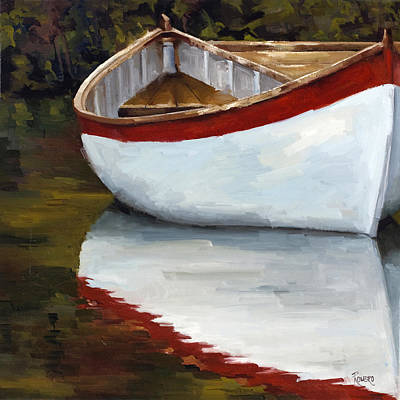 Painting - Boat Into The River by Jose Romero