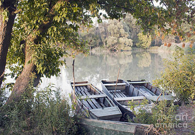 Czintos Photograph - Boat Mooring by Odon Czintos