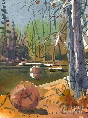 Boat Moorings Art Print by Donald Maier