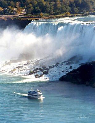 Photograph - Boat On Niagara Falls by Diana Haronis