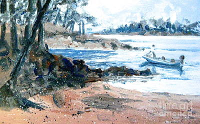 Painting - Boater At Webster's Ferry by Gretchen Allen