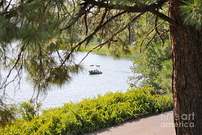 Photograph - Boaters At Showlow Lake 2 by Pamela Walrath