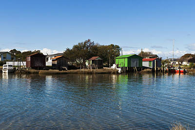 Photograph - Boathouses by Graeme Knox