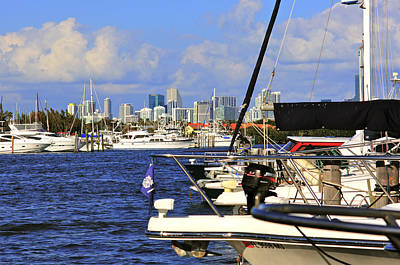 Boats And Miami Original by Dieter  Lesche