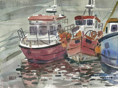 Painting - Boats At Kilmore Quay by Donald Maier