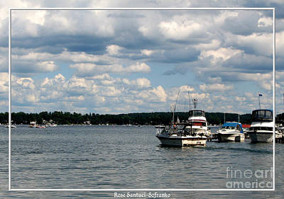 Photograph - Boats At Pier On Lake Ontario Near Sodus Point Ny by Rose Santuci-Sofranko