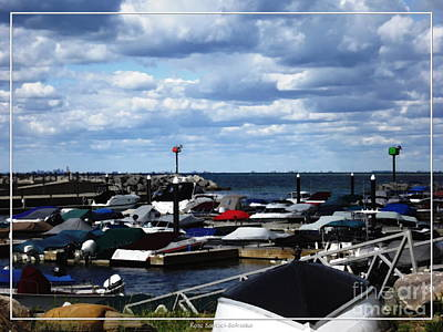 Photograph - Boats Docked At Sturgeon Point Marina by Rose Santuci-Sofranko