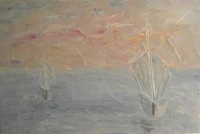 Pictori Romani Contemporani Painting - Boats I by Carmen Kolcsar