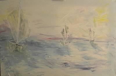 Pictori Romani Contemporani Painting - Boats II by Carmen Kolcsar