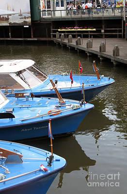 Photograph - Boats In Amsterdam. Holland by Ausra Huntington nee Paulauskaite