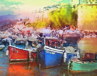 Painting - Boats In Italy by Miki De Goodaboom