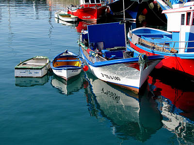 Photograph - Boats In Los Christianos by Barbara Walsh
