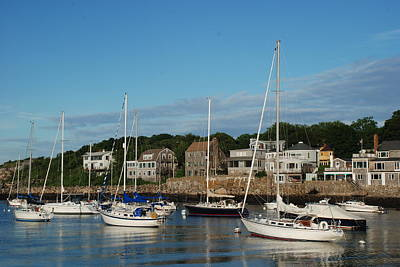 Photograph - Boats In Rockport Massachusetts by Richard Bryce and Family