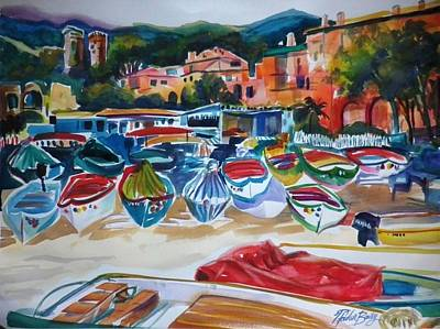 Painting - Boats Of Cinque Terre by Therese Fowler-Bailey