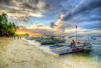 Photograph - Boats Of Panglao Island by Yhun Suarez