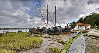 Photograph - Boats On The Hard At Pin Mill by Gary Eason
