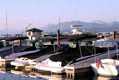 Boats On The Lake Art Print by Anne Raczkowski
