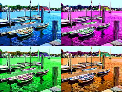 Pier Digital Art - Boats by Stephen Younts