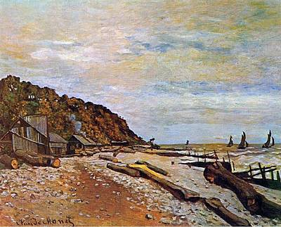 Sailboat Ocean Painting - Boatyard Near Honfleur by Claude Monet