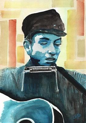 Bob Dylan Art Print by Chris Cox