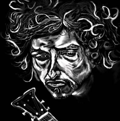 Like A Rolling Stone Painting - Bob Dylan Like A Rolling Stone by Herbert Renard