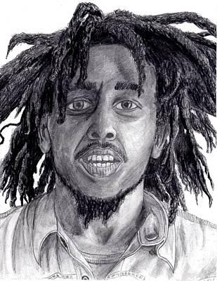 Rasta Drawing - Bob Marley by Blake Grigorian