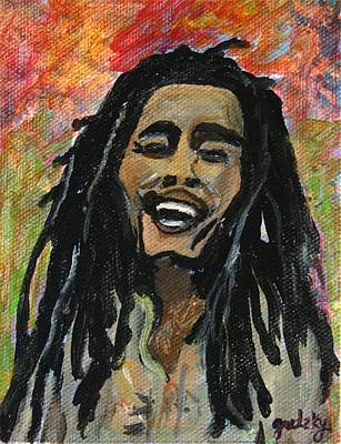 Gretzky Painting - Bob Marley by Paintings by Gretzky