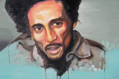 Painting - Bob Marley by Matt Burke