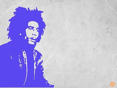 American Rock Star Painting - Bob Marley Purple 3 by Naxart Studio