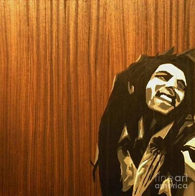 Painting - Bob Marley by Steven Dopka