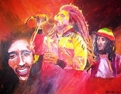 Reggae Kings Painting - Bob Marley by Wandeka Gayle