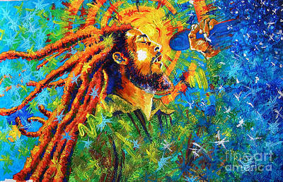 Bob Marley's Tribute Art Print by Jose Miguel Barrionuevo